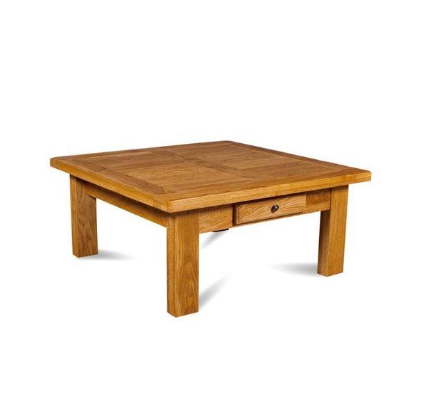 HELLIN Table basse de salon carrée La BRESSE - bois chêne massif