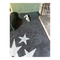 Lorena Canals - Tapis lavable en machine enfant en coton gris Tres Estrellas