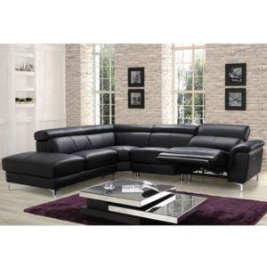 MARQUE GENERIQUE Canapé Dangle Relax électrique En Cuir SITIA - Canapé d angle relax