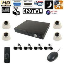 Yonis - Kit caméra de surveillance 4 x Ccd Sharp 1/3 420TVL enregistreur Ip