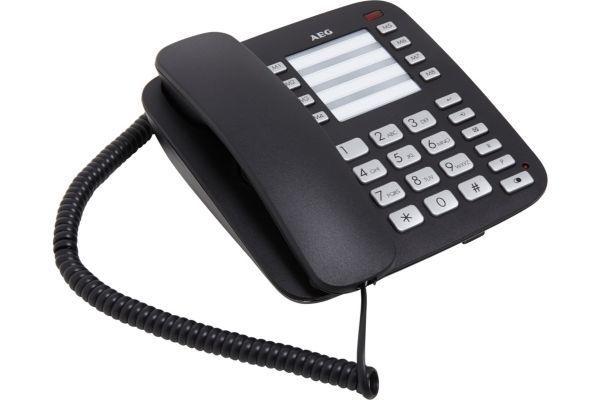 aeg t l phone filaire voxtel c100 noir pas cher achat vente t l phone fixe filaire. Black Bedroom Furniture Sets. Home Design Ideas