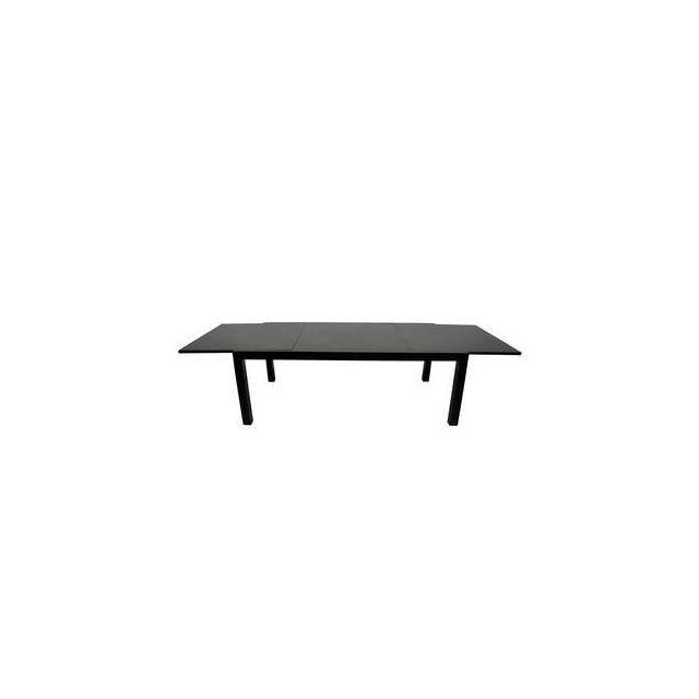 Résidence - Table jardin extensible Aluminium plateau fibre de ...