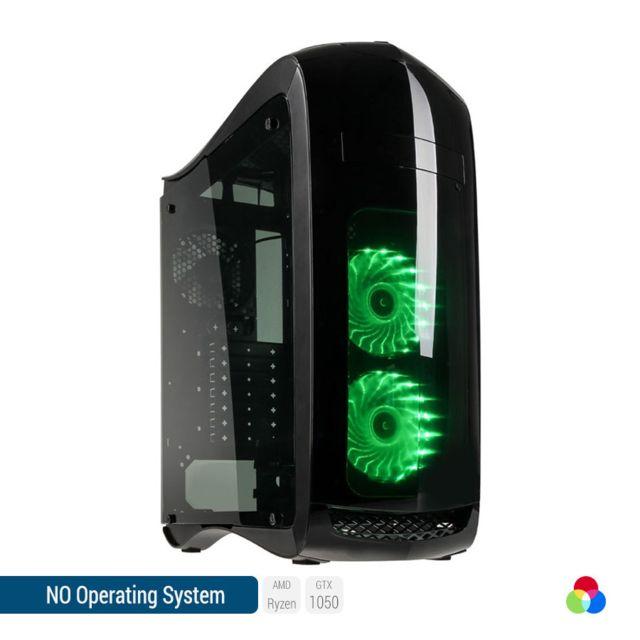SEDATECH PC Gamer, AMD Ryzen 7, GTX 1050, 500 Go SSD, 2 To HDD, 16Go RAM, sans OS. Ref: UCM6064I4