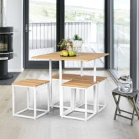 Ensemble Table Chaises 4 Places Chêne