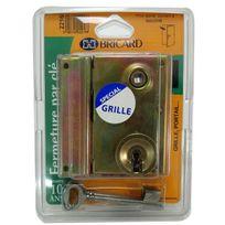 Bricard - Serrure en applique à Fouillot Verticale Ouverture par clé ouvrant Gauche Axe 40 mm