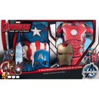 Marvel - Déguisement Avengers : Captain America et Iron Man : 7/9 ans