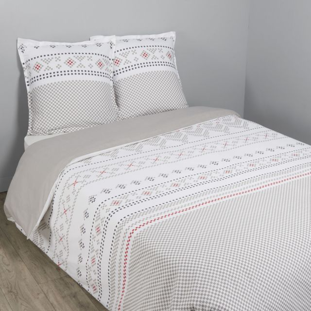tex home parure megeve housse de couette 1 taie d 39 oreiller pas cher achat vente parures. Black Bedroom Furniture Sets. Home Design Ideas