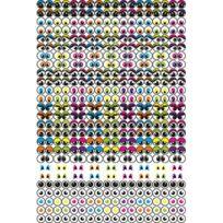 Dtm - gommettes yeux adhésives assorties, repositionnables - pochette de 594