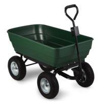 WALDBECK - Green Elephant Chariot de jardinage 125 l 400 kg basculement - vert