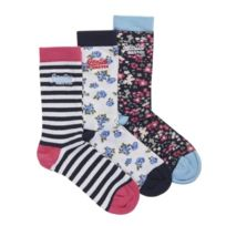 Superdry - Country Floral Pack 3 Chaussettes