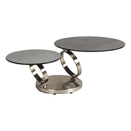 Table basse en verre et métal - Kandinsky