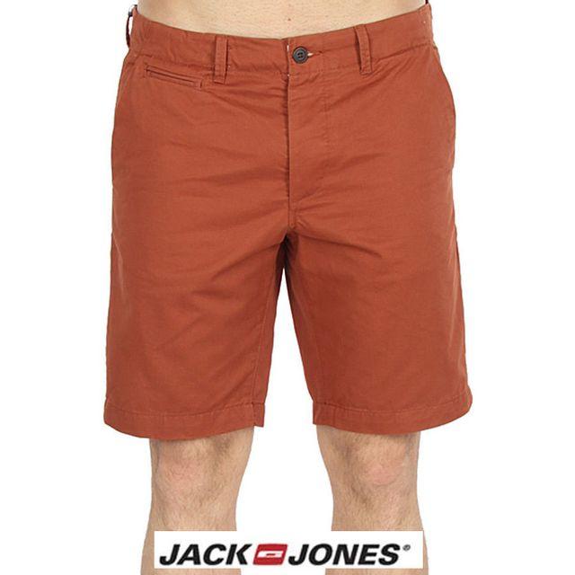 Jack JONES - Short Jack and Jones Graham sequoia marron rouille 12102148 9c9682effeb5