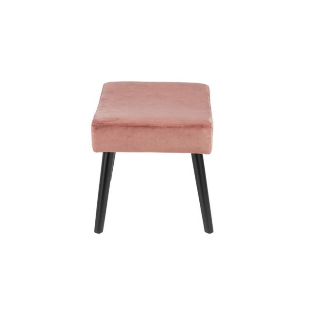 Tousmesmeubles - Pouf Velours Rose - Velly