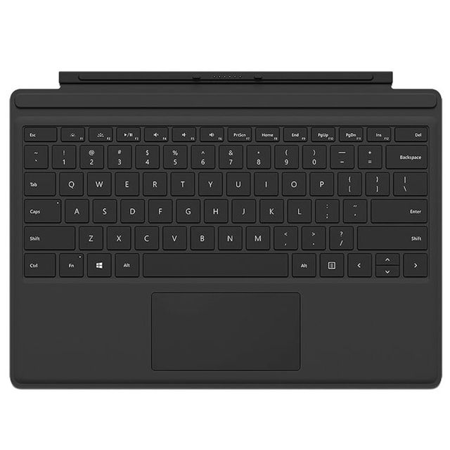 microsoft clavier tablette type cover surface pro 4 black pas cher achat vente clavier. Black Bedroom Furniture Sets. Home Design Ideas