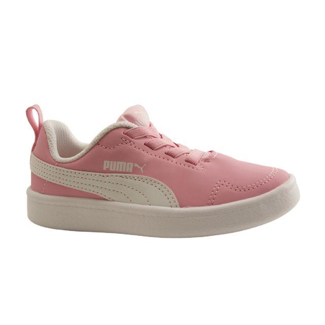 Chaussure Puma rose à lacet élastique