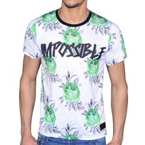Celebrytees - Celebry Tees - T Shirt - Homme - Impo Rose - Blanc Vert