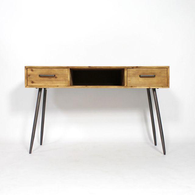 Made In Meubles - Bureau scandinave bois et métal | Y16