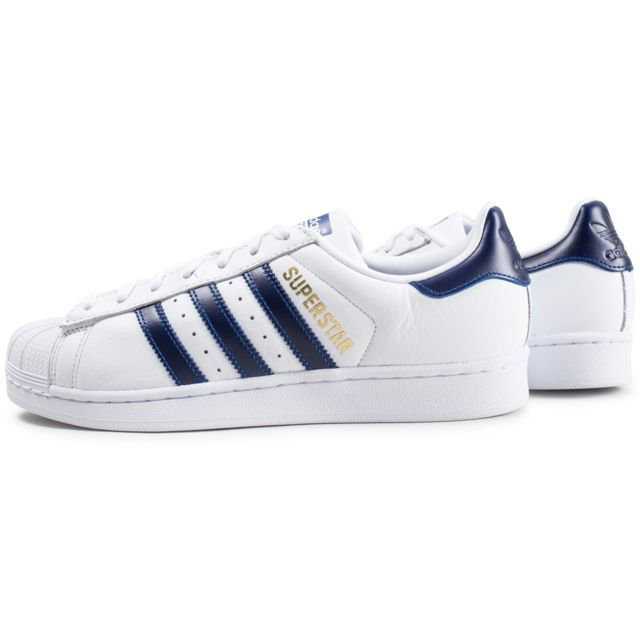 Adidas originals Superstar Foundation Blanc Et Bleu Marine