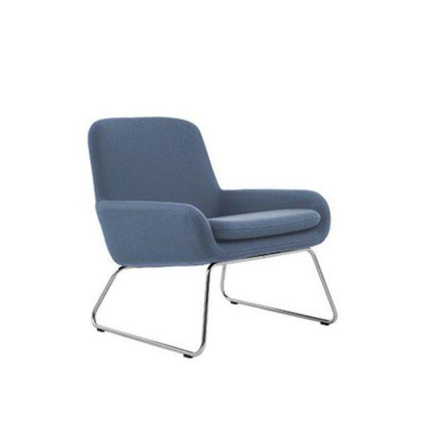 Inside 75 Fauteuil design Coco en tissu bleu Softline