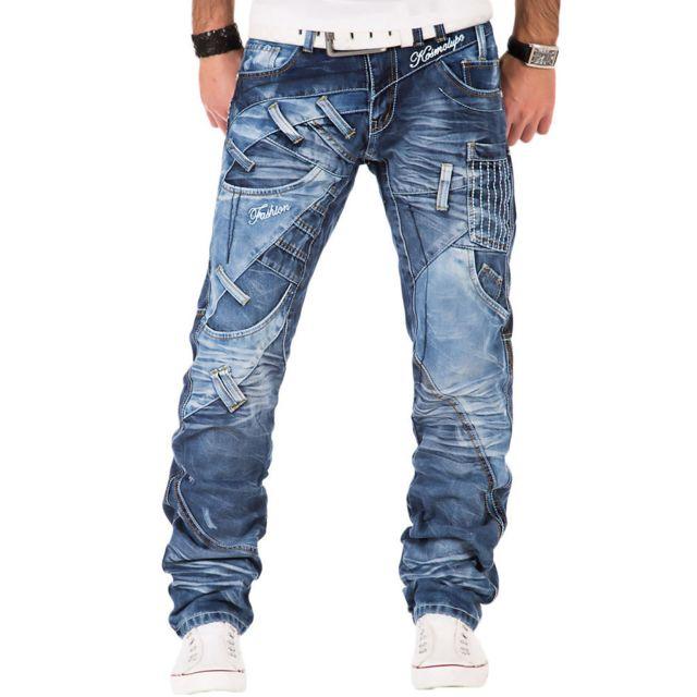 Kosmo Lupo Jean fashion Jean Km-130 bleu