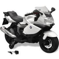 Rocambolesk - Superbe Moto électrique Bmw 283 blanc 6 V pour enfant neuf