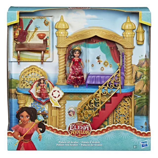 DISNEY PRINCESSES MINI POUPÉE PALAIS D'ELENA D'AVALOR - C0386EU40 Inspiré par la série télé Disney Channel, le coffret Château royal ressemble au château d'Elena dans la série. Ce coffret contient un ch