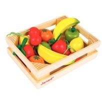 Janod - Cagette de 12 fruits en bois