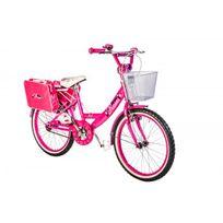 Autre - Vélo fille Roses 20 fuchsia et blanc
