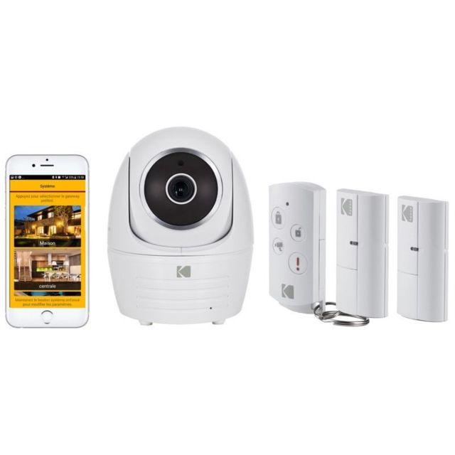 KODAK Pack Caméra de sécurité IP101WG + 2 Contacteurs de porte WDS801 + 1 Télécommande WRC801
