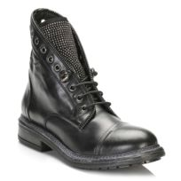 Tower Footwear - Tower Womens Black Leather Ankle Boots-EU 41