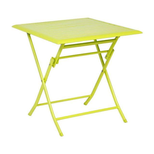 Hespéride Table aluminium Azua 2 places vert granny