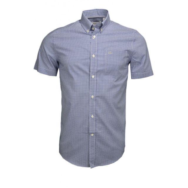 lacoste chemise manches courtes carreaux r gular fit. Black Bedroom Furniture Sets. Home Design Ideas