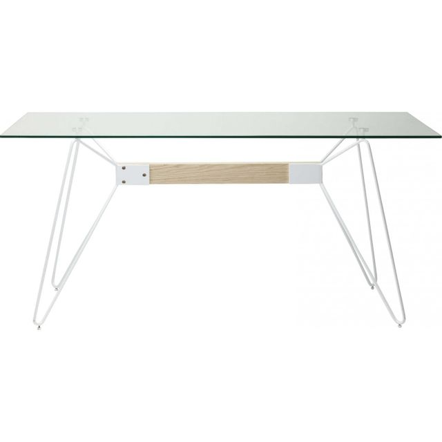 Karedesign Table en verre Slope 160x80cm Kare Design