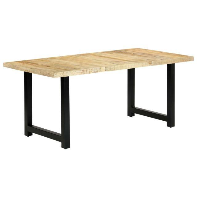 Stylé Tables collection Mogadiscio Table de salle à manger 180x90x76 cm Bois de manguier massif