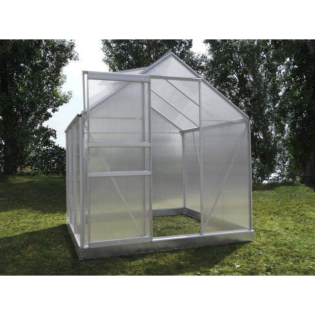 Chalet jardin prima 46 serre de jardin 2 41 m pas cher achat vente serres en verre - Serre de jardin carrefour ...