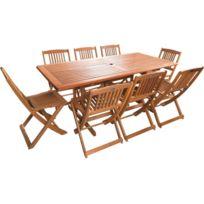 Table jardin bois exotique - Bientôt les Soldes Table jardin bois ...