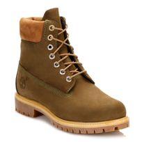 Timberland - Mens Dark Olive Premium 6 Inch Waterproof Boots-UK 8.5