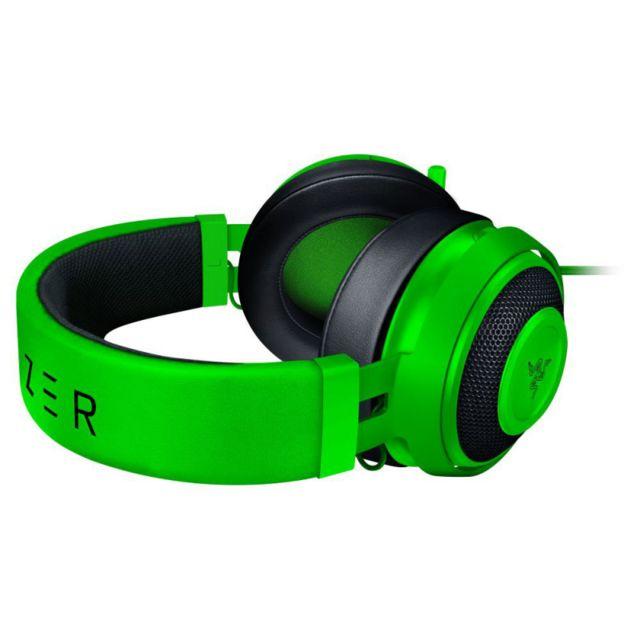 RAZER Casque Kraken Pro v2 Oval Vert Le casqueRazer Kraken Pro v2est équipé d'un micro entièrement rétractable, de commandes du volume sonore et d'un bouton pour désactiver le micro situés sur le câble, ce qui vous permet d'accéder facilement à toutes s