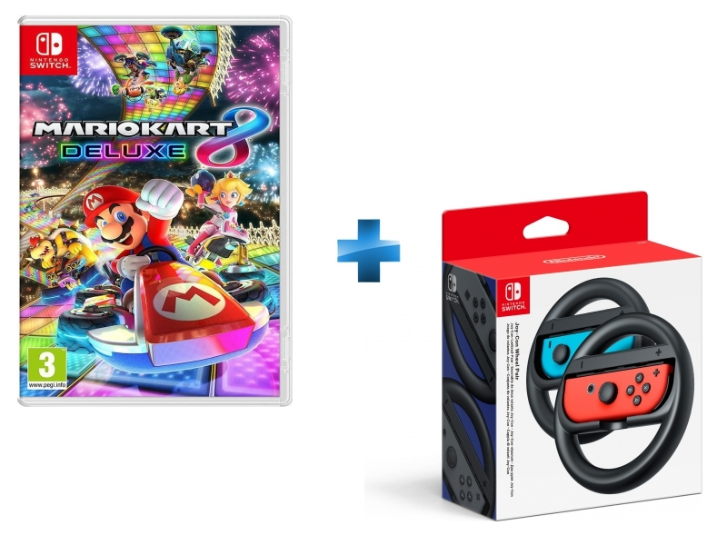Mario Kart 8 Deluxe + Paire de volants Joy-Con Switch