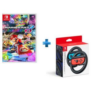 NINTENDO - Mario Kart 8 Deluxe + Paire de volants Joy-Con Switch
