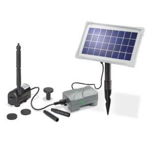 Esotec kit pompe solaire petit bassin rimini plus n avec for Kit bassin de jardin pas cher