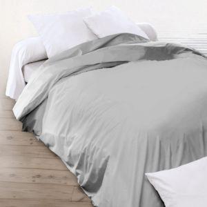 linnea housse de couette uni 260x240 cm 100 coton alto alu gris 260cm x 240cm pas cher. Black Bedroom Furniture Sets. Home Design Ideas