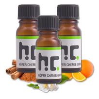 Hc - Set d'huiles essentielles N°3 - 4 parfums - Citron, Fleur de Jasmin, Orange et Cannelle