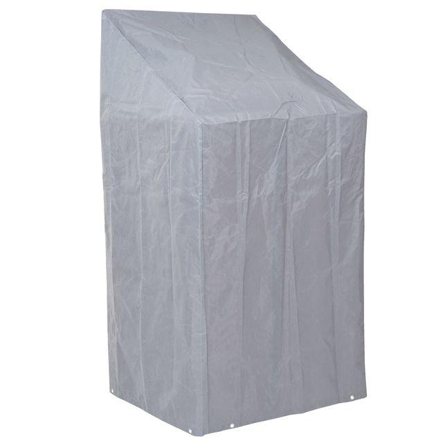 Mendler Housse de protection pour chaises, gaine de protection, gris, 150/110x70x70cm