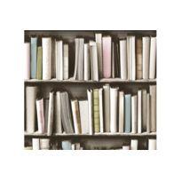 Declikdeco - Papier peint bibliothèque vintage