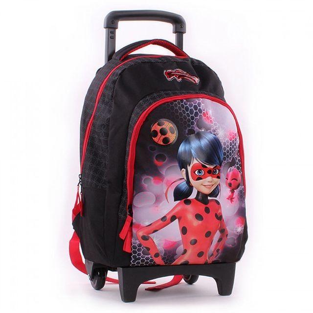 mode designer 49086 4cb9b Ladybug - Sac à roulettes 45 Cm Miraculous Haut de gamme ...