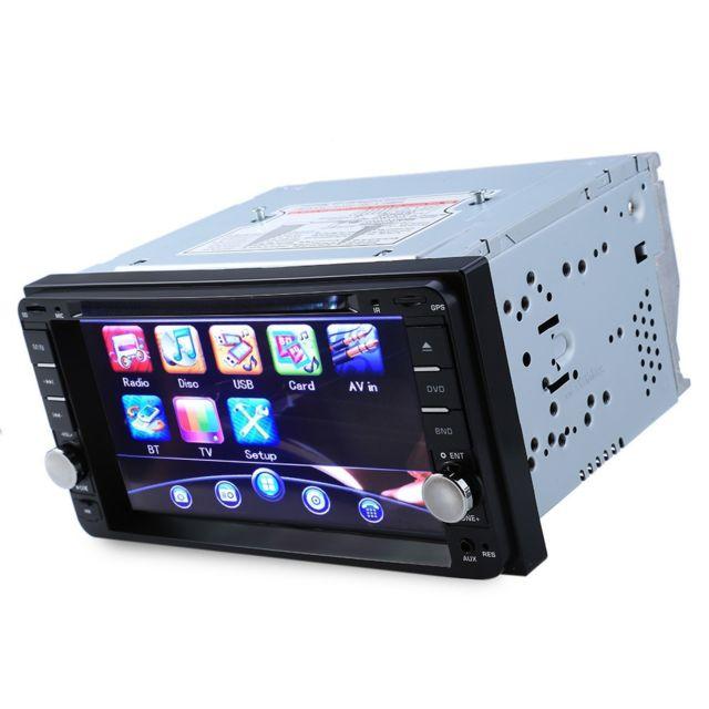 Auto-hightech Autoradio Vidéo Stéréo de Voiture Toyota 7 pouces avec Micro intégré - Noir