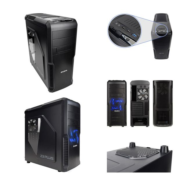 "Pack complet Pc Gamer Expert Intel i5-7500 4x 3.40Ghz max 3.8Ghz Geforce Gtx 1060 3Go, 16 Go Ram Ddr4 2133Mhz, 250 Go Ssd, 1 To Hdd, Usb 3.0, Wifi, CardReader, Hdmi2.0. Unité centrale avec moniteur Tft-led 23.6"", clavier & souris small"