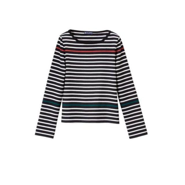 4cd712067090e Petit Bateau - Marinière femme en jersey lourd Néo Marinière noir Noir /  Multico - pas cher Achat / Vente Pulls femme - RueDuCommerce
