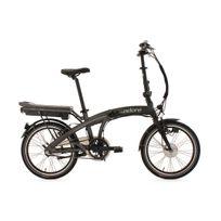 """ADORE - Vélo assistance électrique pliant 20'' Zero E-Bike 20"""" gris 3 vit 250 Watt Li-Ion 36V/10,4 Ah"""